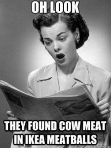 Ikea cow meat